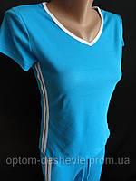 Женский трикотажный костюм с бриджами., фото 1