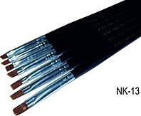 Набор кистей для геля с черной ручкой 7 шт, набор кистей YRE NK-13, ногти гелем роспись