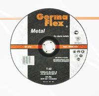"Круг для резки металла выпуклый Т42 ""Germaflex"". Диаметры: 115, 125, 150, 180, 230 мм."