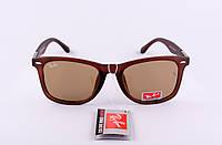 Солнцезащитные очки Ray Ban Wayfarer коричневые ( Рей Бен Вейфарер ), Донецк