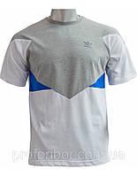 Мужская футболка Adidas из хлопка, одежда фото, футболки Запорожье V-3-504, Украинские футболки