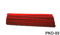 Набор одноразовых пилочек 15 см 10 шт в уп красные, пилка одноразовая YRE PKO-03, все для салонов красоты