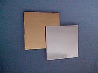 Подложка  под торт 10*10 см золото\серебро (код 02816)
