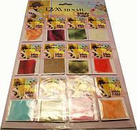 Ткань на листе для декора ногтей, ткань-ленточки YRE DK-44, декор тканью
