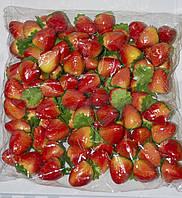 Искусственная клубника упаковка, муляж овощей, фрукты для декора