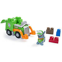 Paw Patrol Щенячий патруль Спасательный автомобиль с фигуркой Рокки IONIX Jr. Rocky's Recycling Truck