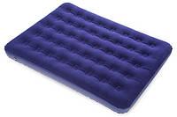 Надувной флокированный матрас BestWay 67002 (191x137x22 см) ZN