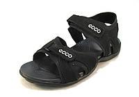 Сандалии мужские ECCO кожаные  черные (р.40,41,42,43,44,45)