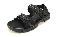 Сандалии мужские RAZOR кожаные черные (р.47,48,49)