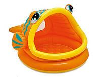 Бассейн детский надувной 57109 Рыба-шар Intex (124х109х71 см), бассейн рыбка