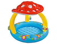 Надувной детский бассейн с навесом «Грибок» Intex 57407 (102х89 см) HN