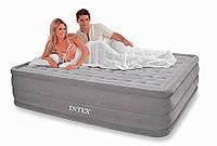 Двухспальная надувная кровать Intex 66958 Queen Ultra Plush Airbed (203X152X46 см) со встроен. насосом HN