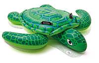 Плотик 57524 черепаха с двумя ручками, двумя воздушными камерами (150 х 127 см) в коробке (25,5 х 23 х 7 см)