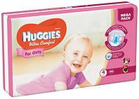 Подгузники для девочек Хаггис Huggies Ultra Comfort  4 (7-16кг) 66 шт.