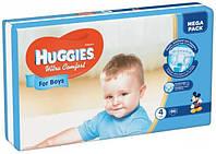 Подгузники для мальчиков Huggies Ultra Comfort 4 (7-16 кг) Mega Pack, 66 шт.
