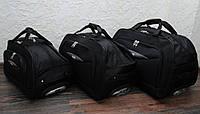 Большая дорожная сумка на колесах Nuri 7882 черная