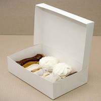 Коробка для эклеров, зефира, печенья 230*150*60 мм белая