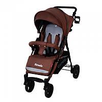 Детская коляска прогулочная CARRELLO Strada CRL-7305 Brown резиновые колеса