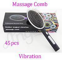 Массажная щетка расческа для волос с магнитной функцией Rubber Magnet Vibration Massage Comb