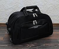 Маленькая дорожная сумка на колесах Nuri 7882 черная
