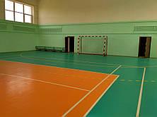 Спортивный  игровой зал  с ПВХ покрытием