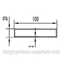 Алюмінієва Труба прямокутна ПАА-1026 100х20х2 /Без покриття