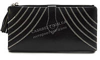 Женский качественный кошелек с эко кожи с прошивками FUERDANNI art. K76-2183 черный