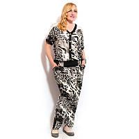 Женский леопардовый костюм большого размера