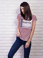 Молодежная легкая футболка с модным принтом