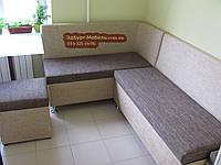 Кухонный уголок + 2 пуфа + спальное место