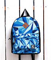 Рюкзак «Ястребь» Синие кристалы, Принт №20