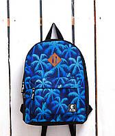 Рюкзак «Ястребь» Синие пальмы, Принт №22