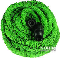 Шланг садовый Х HOSE (Икс Хоз) с насадкой 15 м Зеленый