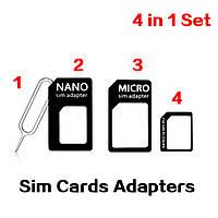Адаптеры сим карт переходники для микро нано, фото 1