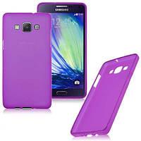 Чехол для Samsung Galaxy A3 (A300) силиконовый бампер фиолетовый