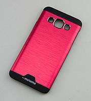 Чехол для Samsung Galaxy A3 (A300) Motomo красный / черный