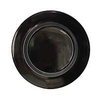 """Тарелка круглая с бортом 8"""" (20,3 см) черная глянцевая FC0087BK-8"""