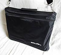 Мужская сумка через плечо барсетка деловая жатка А4 38х28х6см
