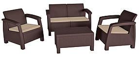 Комплект садовой мебели Bahamas коричневый (Time Eco TM)