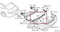 Абсорбер заднего бампера Infiniti M37 Y51 Новый Оригинальный