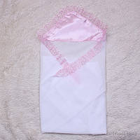 """Крестильная пеленка для крестин """"Дана"""" (розовая), фото 1"""