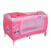 Детский манеж-кровать Bertoni DANNY 2L (pink kitty)