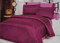 Комплект постільної білизни Le Vele silk satin Jakkaranda Grape, фото 1
