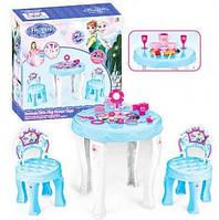 Игровой набор 901-348 Холодное сердце стол, стулья, фен, бижутерия, посудка
