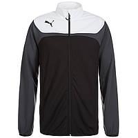 Олимпийка спортивная мужская Puma Esito 3 653973 03 (черная с белым, на молнии, тренировочная, логотип пума)