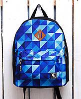 Рюкзак «Ястребь» Синий квадратный узор, Принт №17, фото 1