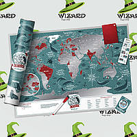 """Скретч карта мира """"Marine World"""", фото 1"""