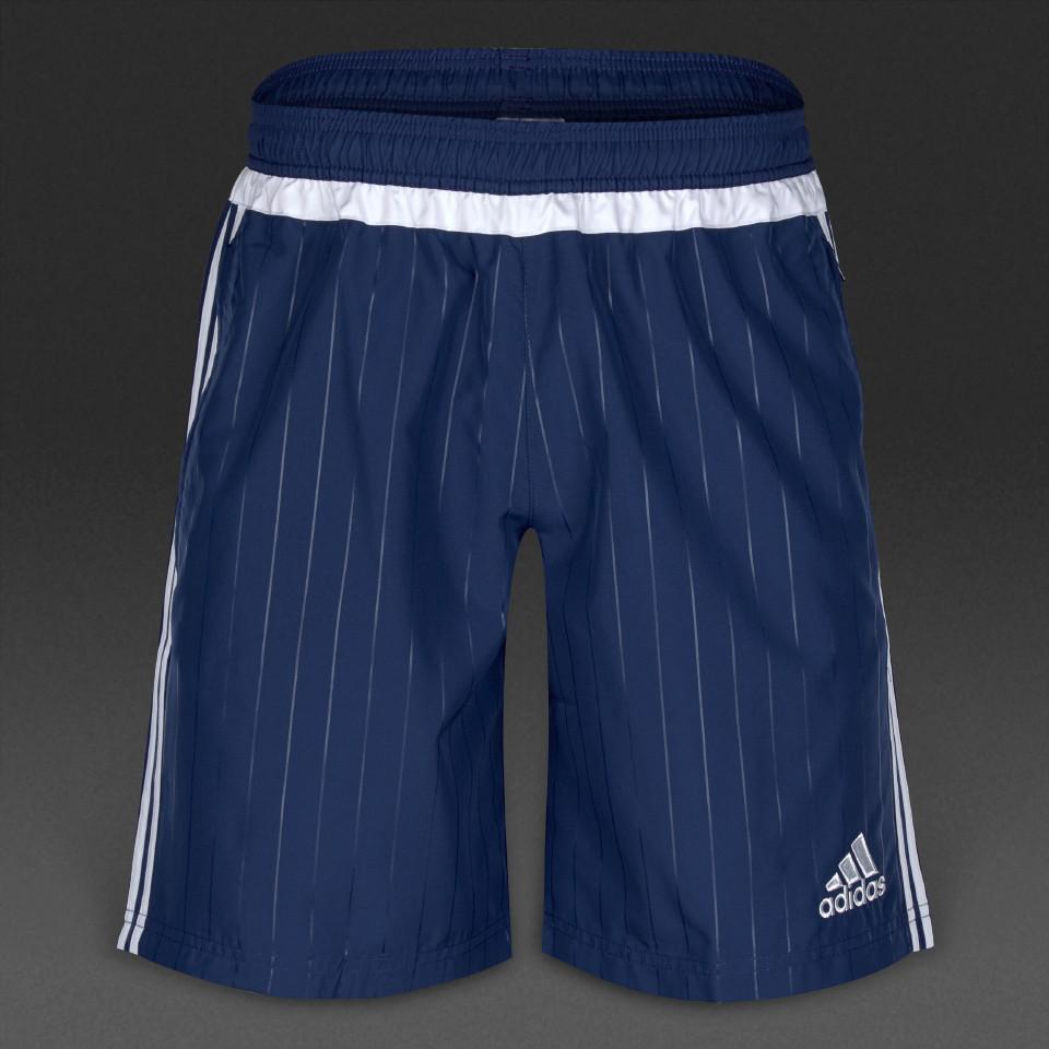 Шорты спортивные мужские adidas Tiro 15 S22463 (синие, полиэстер, для тренировок, с логотипом адидас)
