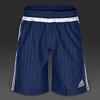 Шорты спортивные мужские adidas Tiro 15 S22463 (синие, полиэстер, для тренировок, с логотипом адидас), фото 1