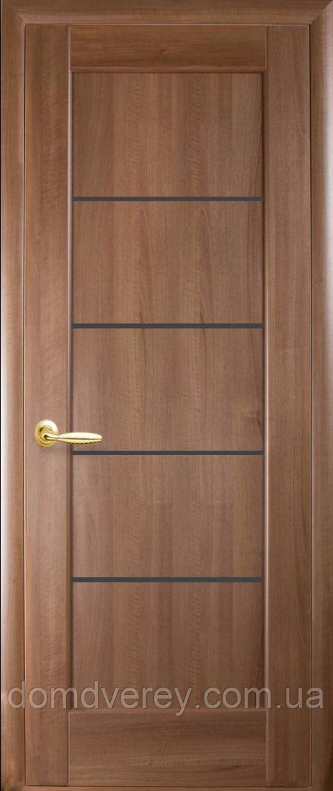 Двери межкомнатные Новый Стиль, Ностра, модель Мира, с черным стеклом